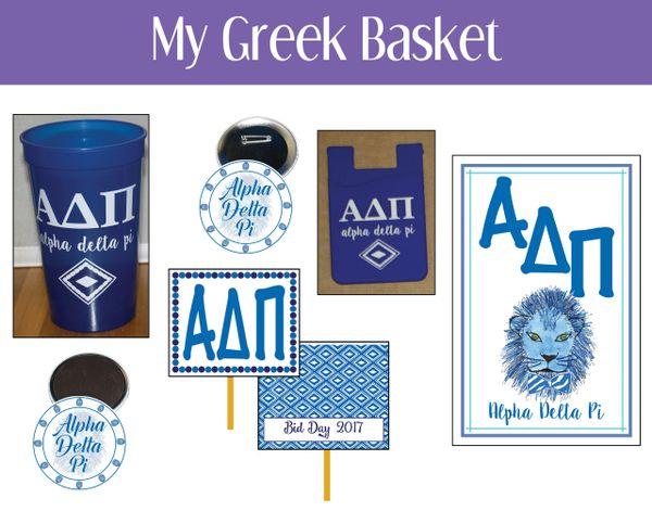 My Greek Basket • Alpha Delta Pi
