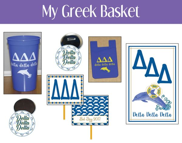 My Greek Basket • Delta Delta Delta