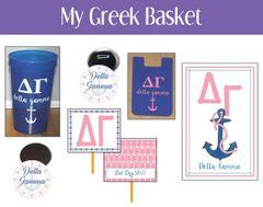 My Greek Basket • Delta Gamma