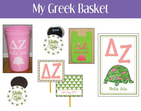My Greek Basket • Delta Zeta