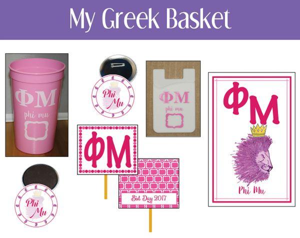 My Greek Basket • Phi Mu