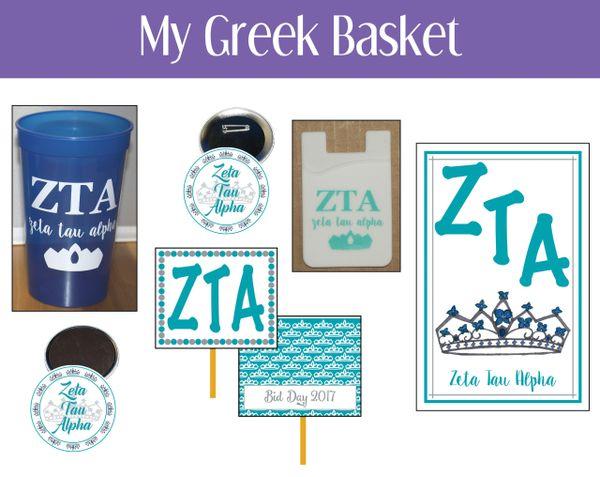 My Greek Basket • Zeta Tau Alpha