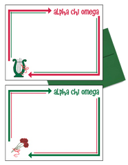 Alpha Chi Omega Arrow Postcards