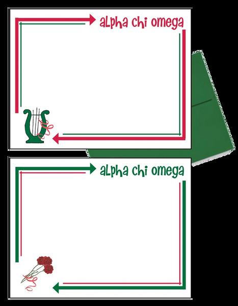 Alpha Chi Omega Arrow Postcards