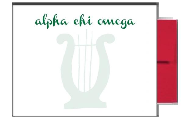 Alpha Chi Omega Background Postcards