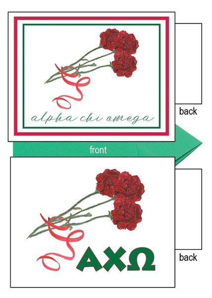 Alpha Chi Omega Flower Notecards