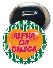 Alpha Chi Omega Heart Button