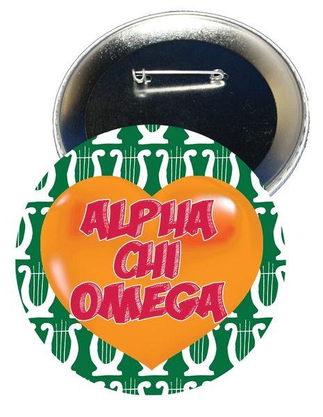 Alpha Chi Omega Heart Button