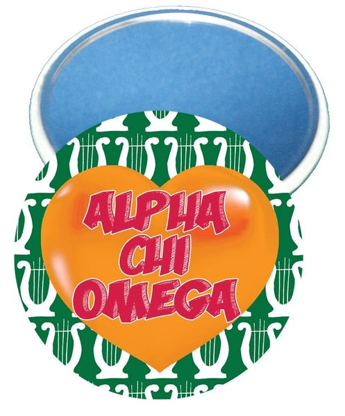 Alpha Chi Omega Heart Mirror