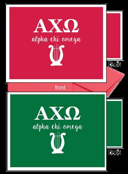 Alpha Chi Omega Letter Notecards