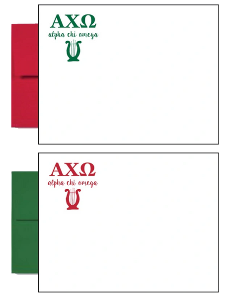 Alpha Chi Omega Letter Postcards