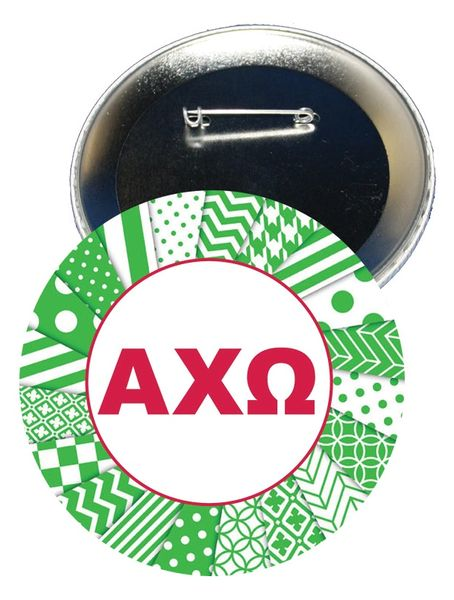 Alpha Chi Omega Letters Button