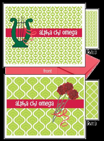 Alpha Chi Omega Logo Notecards