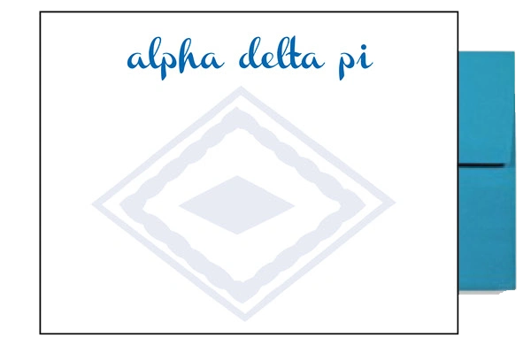 Alpha Delta Pi Background Postcards
