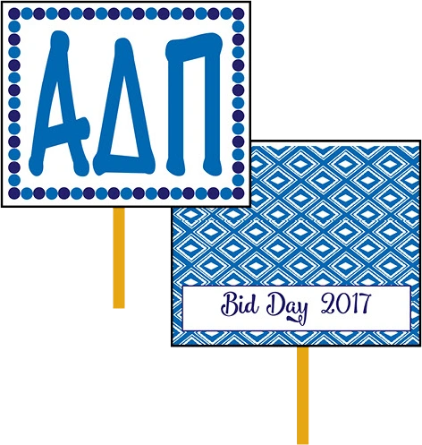 Alpha Delta Pi Bid Day Hand Fan