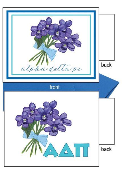 Alpha Delta Pi Flower Notecards