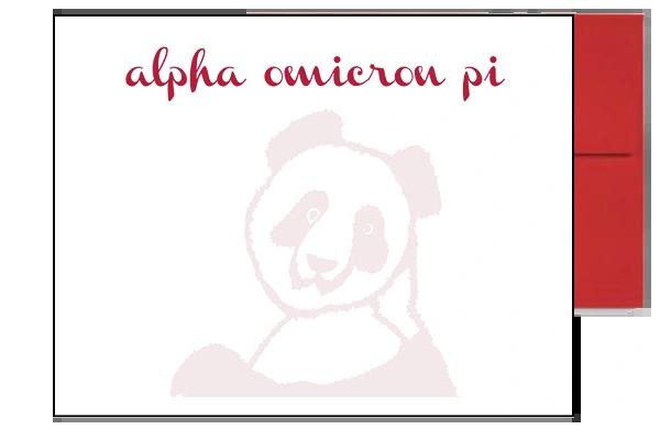 Alpha Omicron Pi Background Postcards