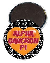 Alpha Omicron Pi Heart Magnet