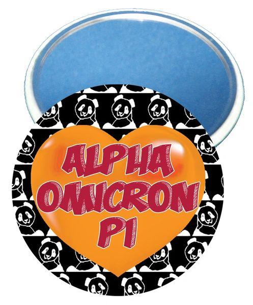 Alpha Omicron Pi Heart Mirror