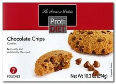 ( 351346) NEW!!! ProtiDiet Chocolate Chips cookies - (7/Box) =Alternative to Ideal Protein - Restricted