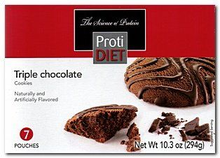 (007274) ProtiDiet Triple Chocolate Cookies - (7/Box) =Alternative to Ideal Protein - Restricted