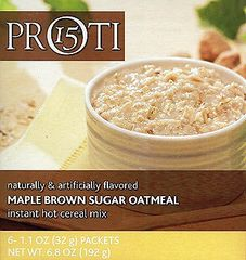 (0130V02) PrOti Maple Brown Sugar Instant Hot Oatmeal Mix - RESTRICTED