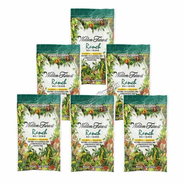 (123335) - (6 packets) Walden Farms - Dressing - Ranch - 1 oz
