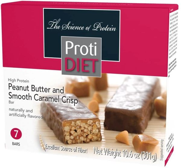 (422138) Protidiet Peanut Butter and Smooth Caramel Crisp = ALTERNATIVE TO IDEAL PROTEIN --- RESTRICTED