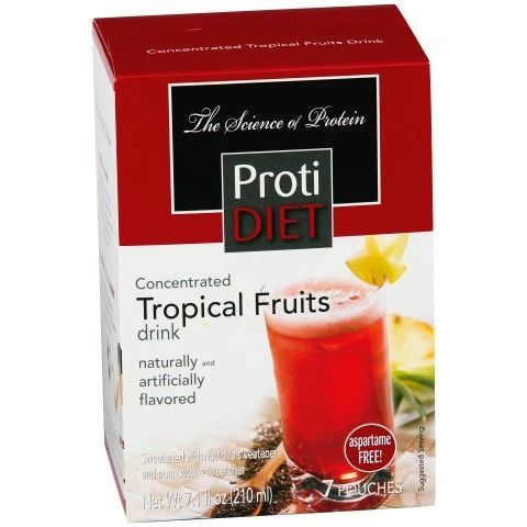 **** GET FOT THE PRICE OF ONE *** (350127)ProtiDiet Liquid Concentrate - Tropical Fruits (7/Box) = ALTERNATIVE TO IDEAL PROTEIN --- UNRESTRICTED - - -GLUTEN FREE!!