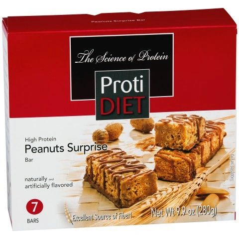 (422350) ProtiDiet Protein Bar - Peanut Surprise (7/Box)= ALTERNATIVE TO IDEAL PROTEIN --- RESTRICTED