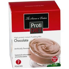 (350868) ProtiDiet Pudding - Chocolate (7/Box) = ALTERNATIVE TO IDEAL PROTEIN --- UNRESTRICTED