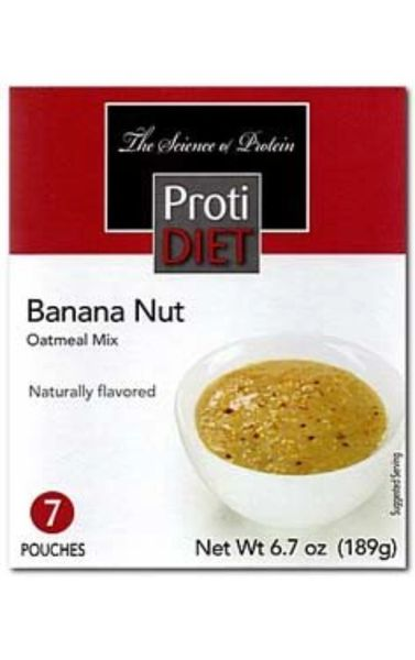 354064) ProtiDiet Oatmeal - Banana Nut (7/Box) = ALTERNATIVE TO IDEAL PROTEIN --- UNRESTRICTED - GLUTEN FREE