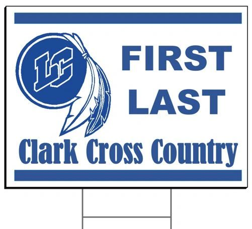 Clark Cross Country Yard Sign
