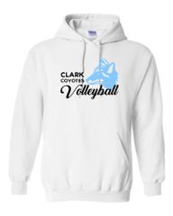 Clark Volleyball Hooded Sweatshirt 2