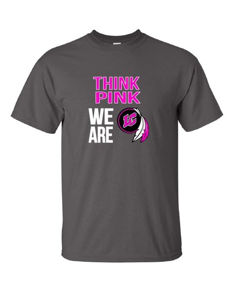 LC Breast Cancer Awareness Charcoal T-Shirt