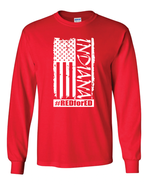 Distressed American Flag Long Sleeves