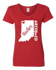 NWI Teacher Women's V-Neck T-Shirt