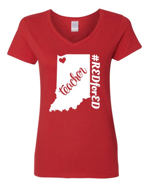 NWI Teacher Women's V-Neck T-Shirt