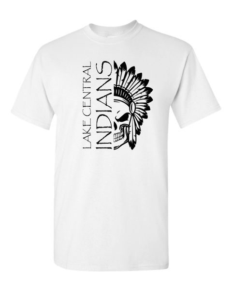 Lake Central Indians Half-Skull T-Shirt