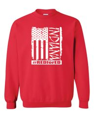 Distressed American Flag Crewneck Sweatshirt