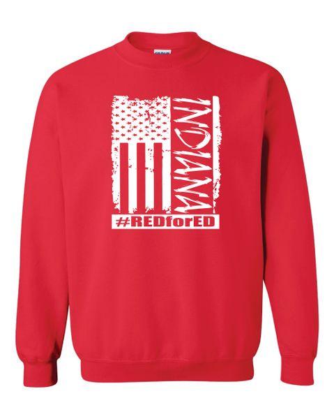 Distressed American Flag Crewneck Sweatshirt