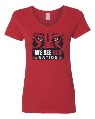 We See Red Nation Women's V-Neck T-Shirt