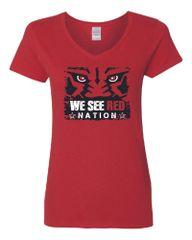 We See Red Nation Women's V-Neck T-Shirt