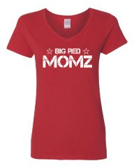 Big Red Momz Women's V-Neck T-Shirt