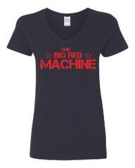The Big Red Machine Women's V-Neck T-Shirt