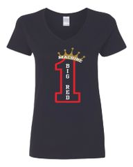 #1 Big Red Machine Women's V-Neck T-Shirt