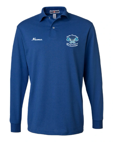 Lake Central Automotive Technology Long Sleeve Polo