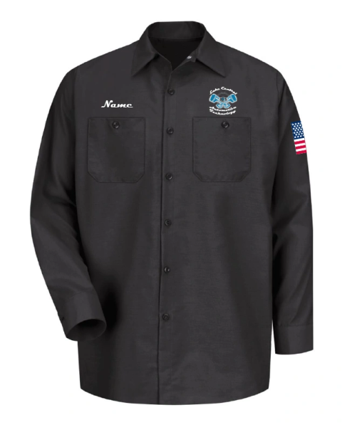 Lake Central Automotive Technology Industrial Long Sleeve Work Shirt