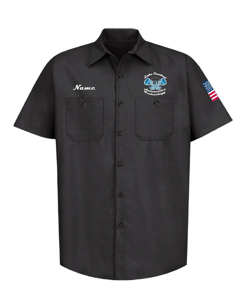 Lake Central Automotive Technology Industrial Short Sleeve Work Shirt