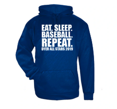 Eat Sleep Baseball Repeat Line Embossed Hoodie
